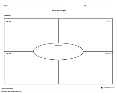 Character Analysis Template - Landscape