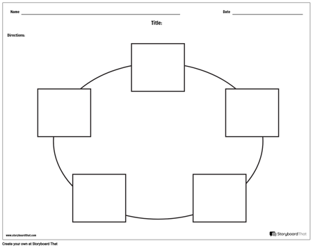 Create Circle Charts or Web Graphic Organizer Printables