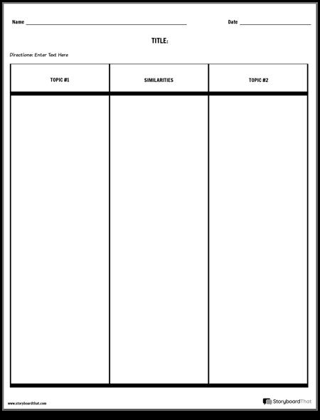 Compare Contrast Table