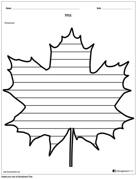 Creative Writing - Maple Leaf
