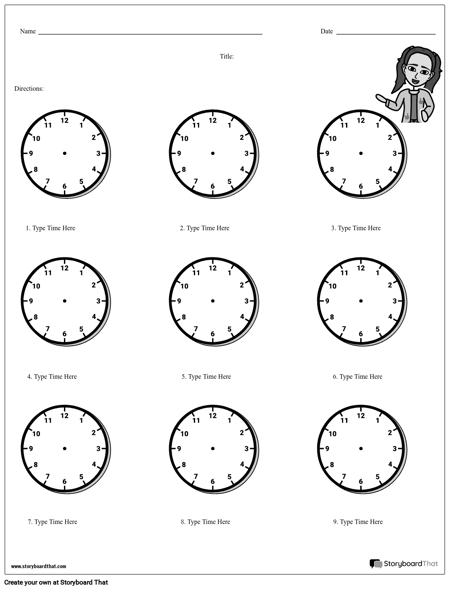 Draw the Hands on the Clock