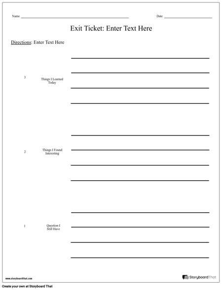 create an exit ticket exit ticket templates and ideas