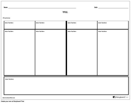 Four Column Notes with Summary Space