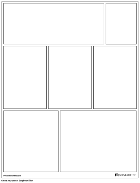 create a graphic novel layout graphic novel template
