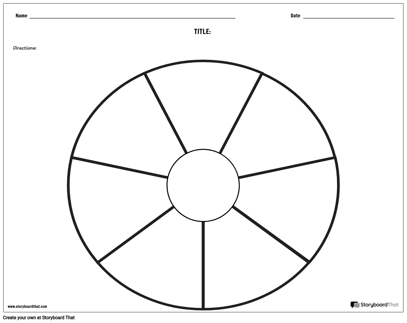 Cycle Worksheets Create Circle Graphic Organizers