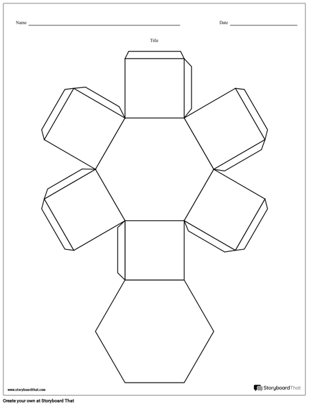 Hexagon Story Cube Template