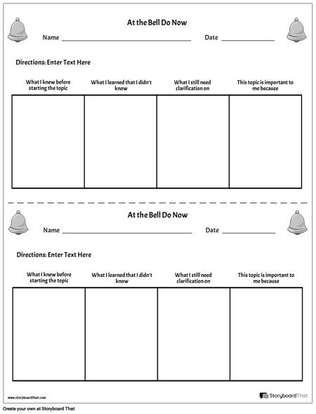 photo relating to Free Printable Bell Ringers called Establish Bell Ringer Routines Bell Ringer Template