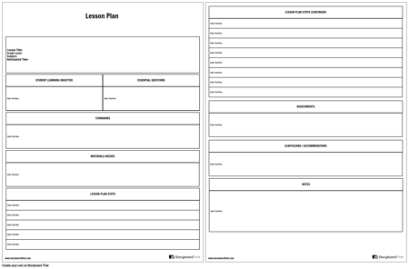 Detailed Lesson Planner