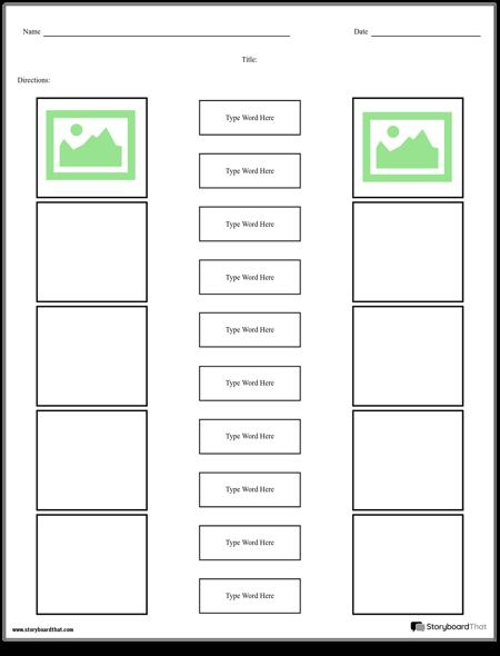 Make Matching Worksheets Matching Worksheet Templates