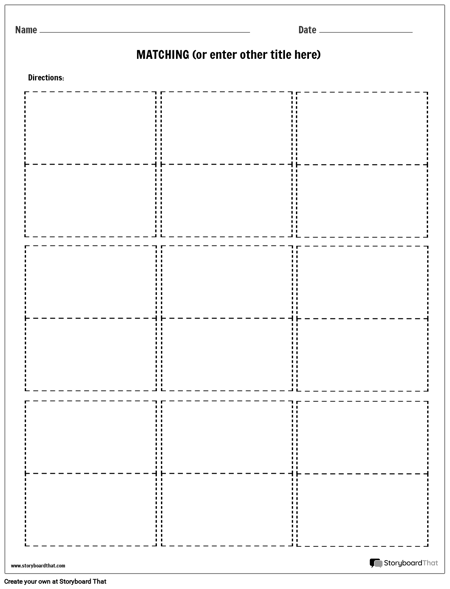 matching worksheet templates easy worksheet creator