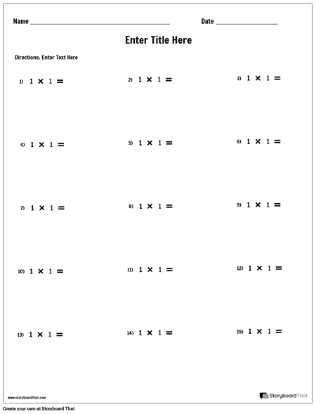 Multiplication - Single Number - Version 1