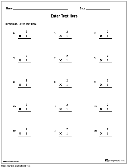 Multiplication - Single Number - Version 2