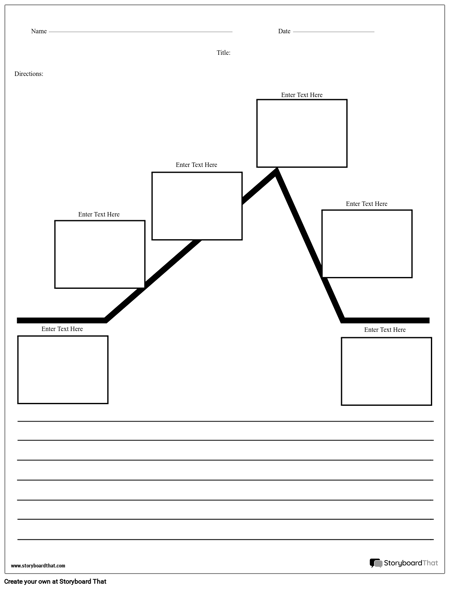 Create a Plot Diagram Worksheet | Plot Diagram Templates