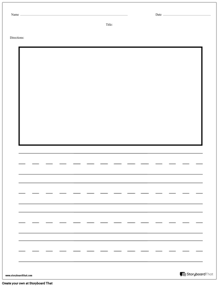 Practice Writing - Sentences with Picture Box