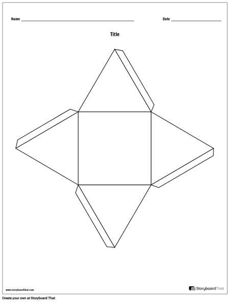 Pyramid Story Cube Template