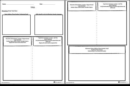 Create a Resume Worksheet | Resume Preparation