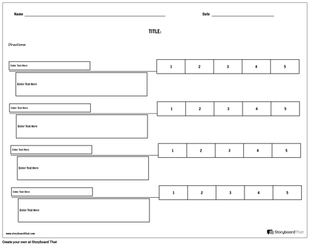 Rubric with Scores