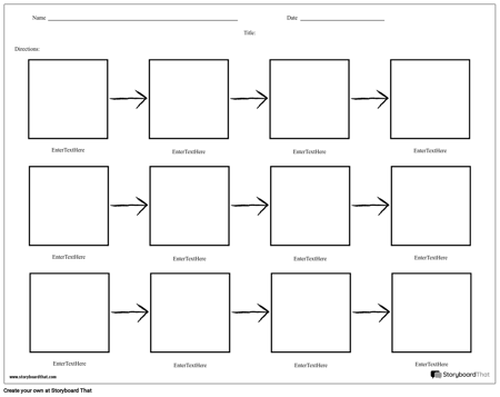 Simple Flow Chart - 3 Rows