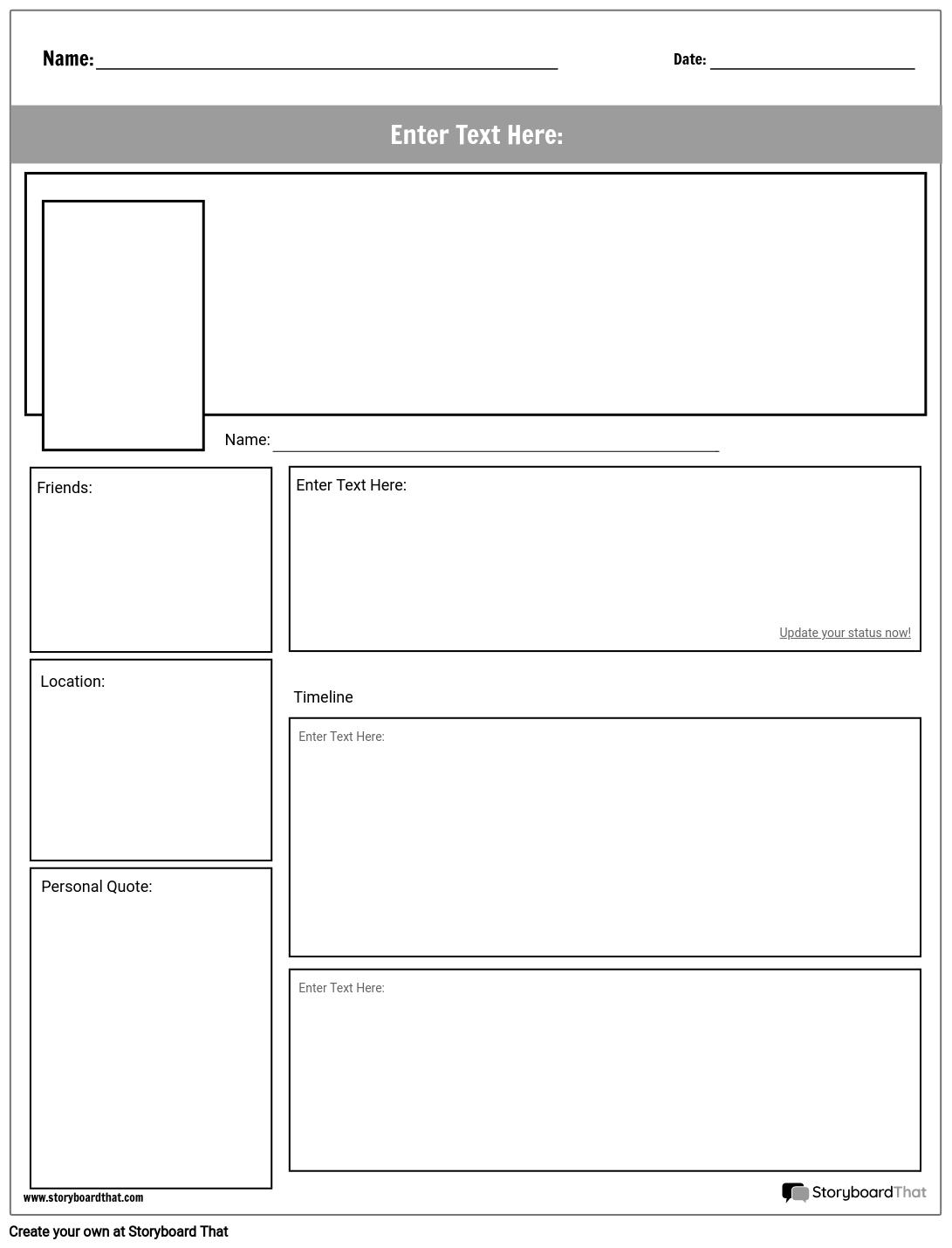 social media project page storyboard by worksheet templates