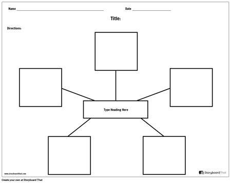 spider diagram template create spider map worksheets printable graphic organizers  create spider map worksheets