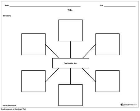 Create Spider Map Worksheets | Printable Graphic Organizers