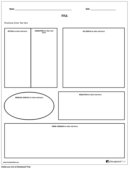 Story Map - Blank Boxes