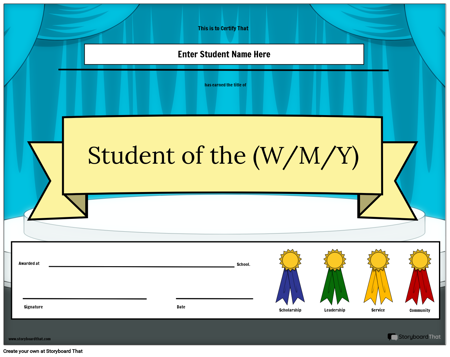 Student of the (w/m/y) Award