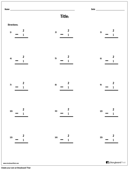 Subtraction - Single Number - Version 2
