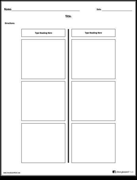 T-Chart - 2 Columns