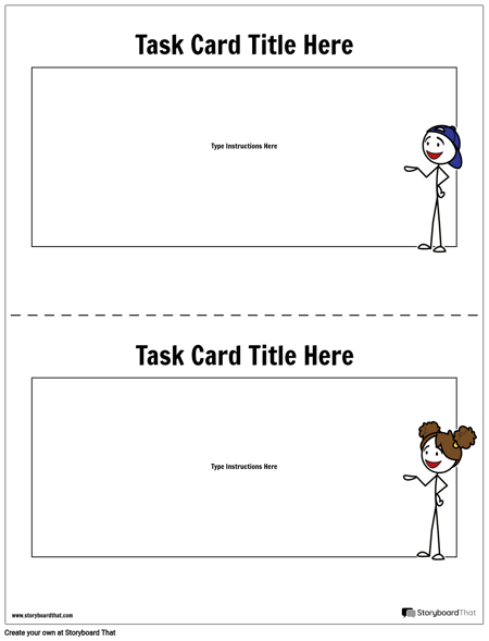Task Card Template Task Card Maker Storyboard That - Task card template