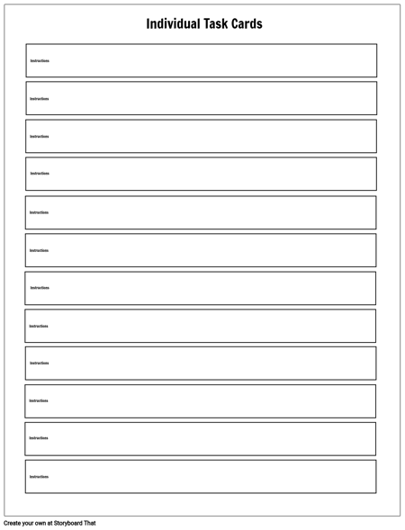 task card template task card maker storyboard that