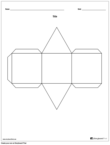 Triangular Prism Story Cube Template