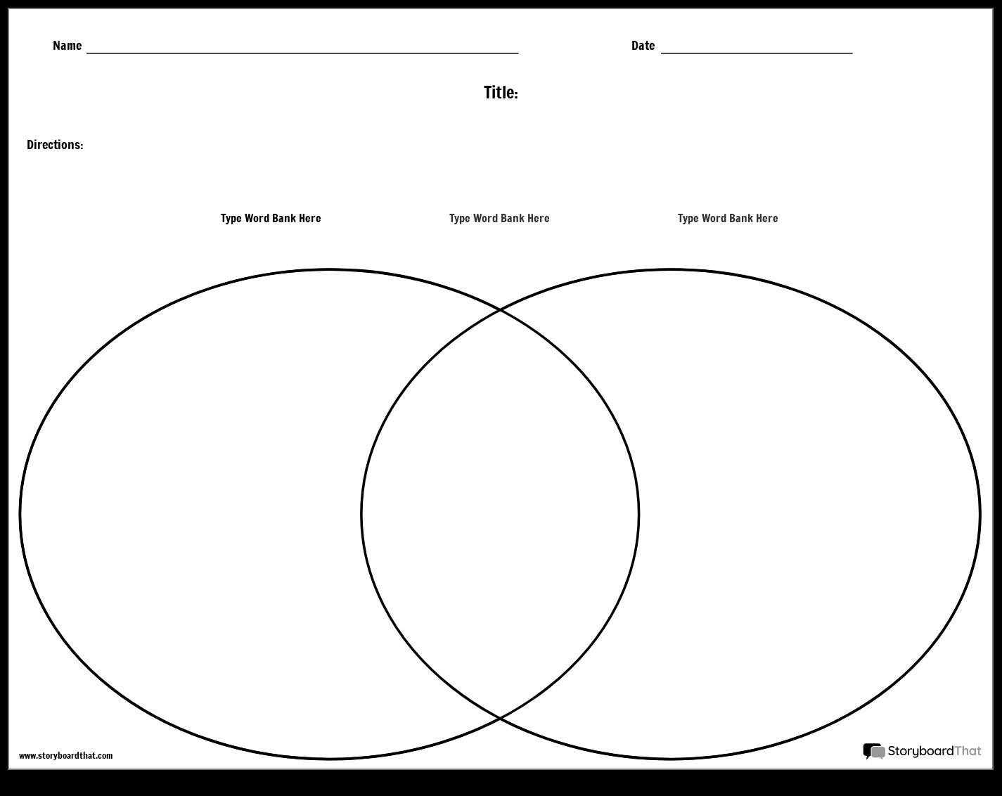 Venn Diagram Template - Landscape Storyboard by worksheet ...