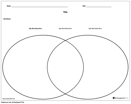 Venn Diagram Template - Landscape