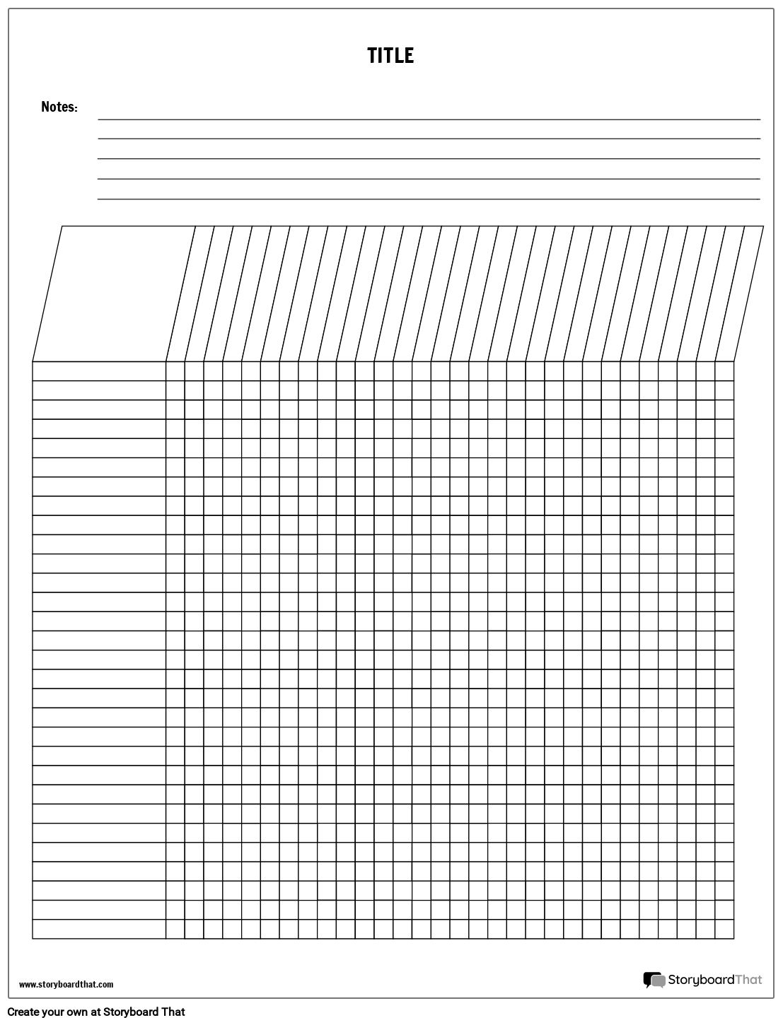 Vertical Grading Template Storyboard by worksheet-templates
