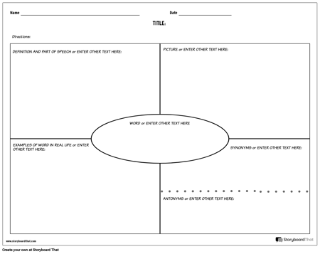 graphic relating to Printable Vocabulary Activities named Generate Vocabulary Worksheets Vocabulary Templates