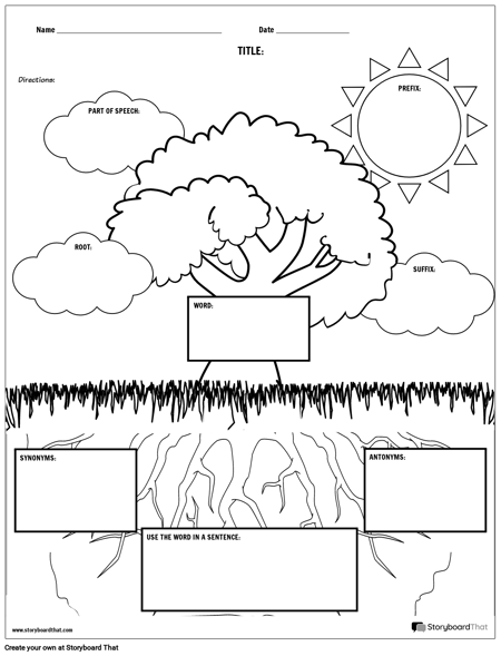 Vocabulary - Fun Nature Theme