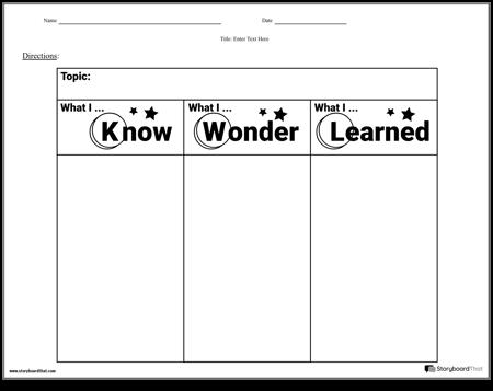 Worksheet - KWL