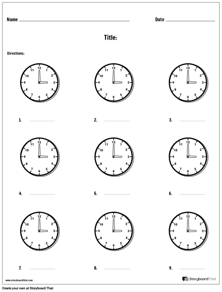 Write the Time