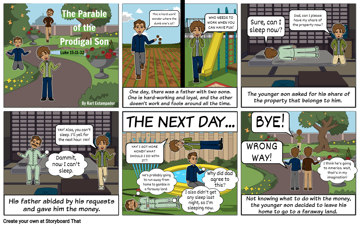 The Parable of the Prodigal Son Comic