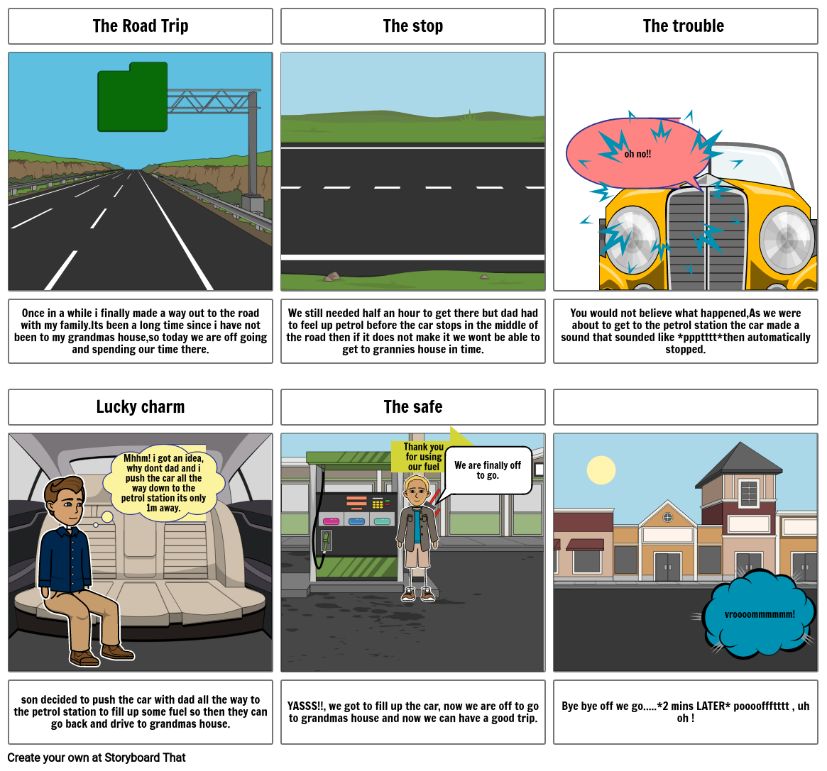 story on story board*the road trip*
