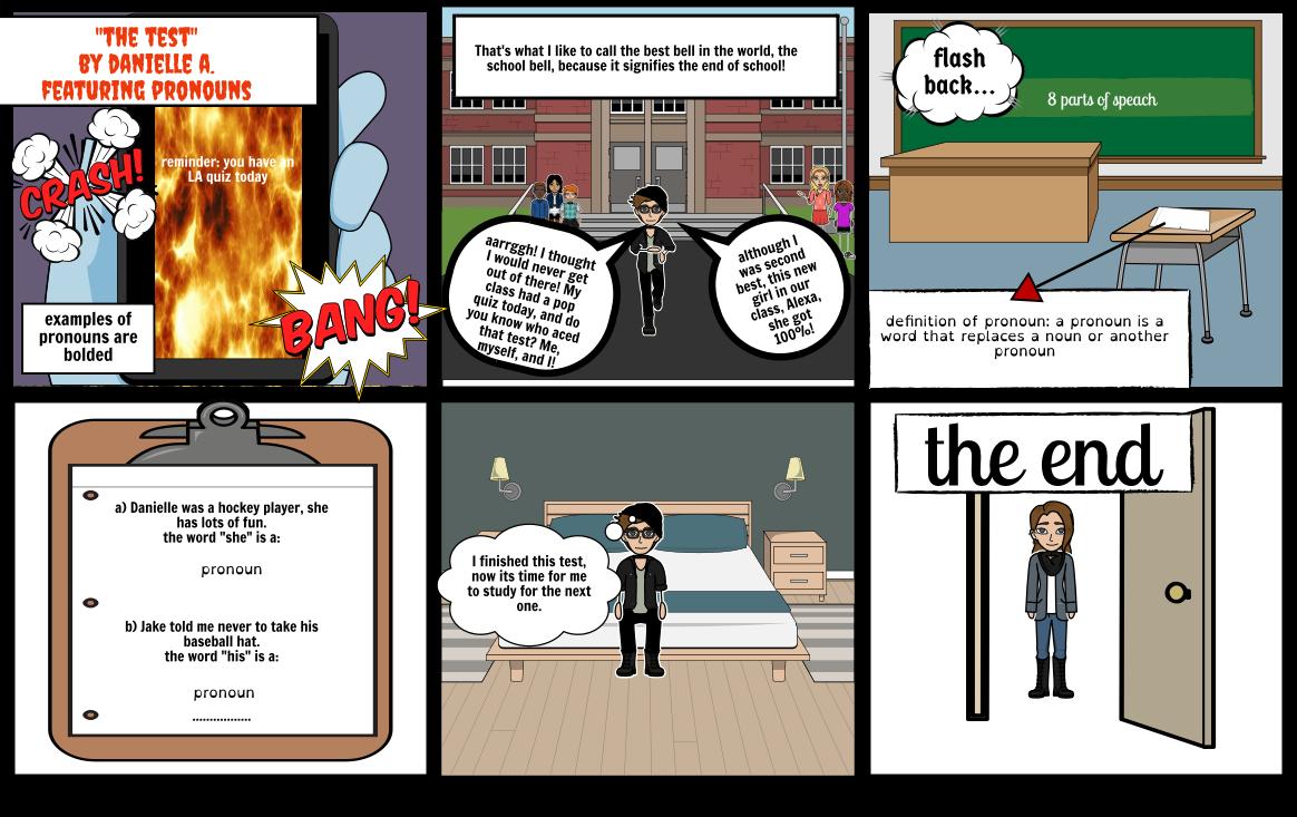 LA pronouns comic strip