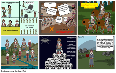 Yodit's Storyboard of The Mongols