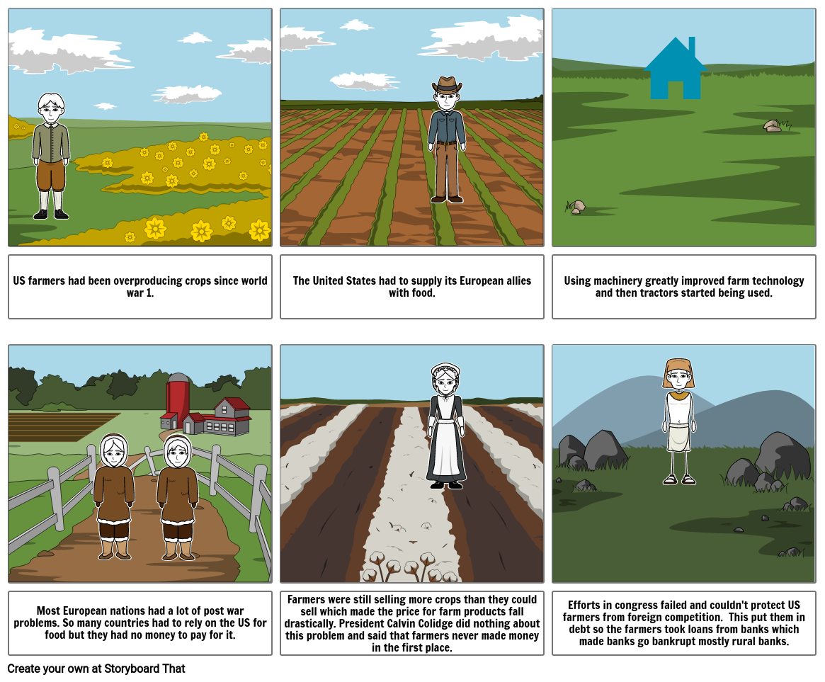 Farmers comic strip