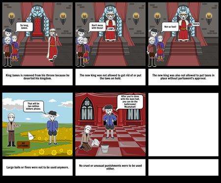 English Bill of rights Storyboard