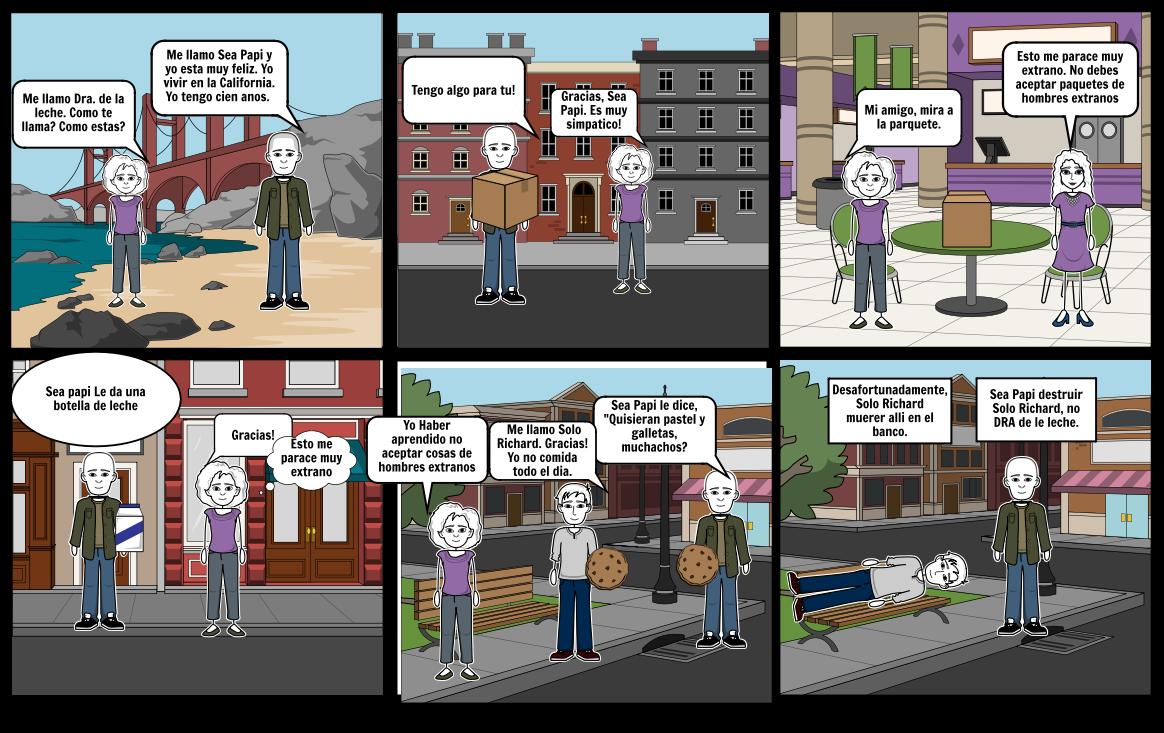 El hombre despreciable storyboard